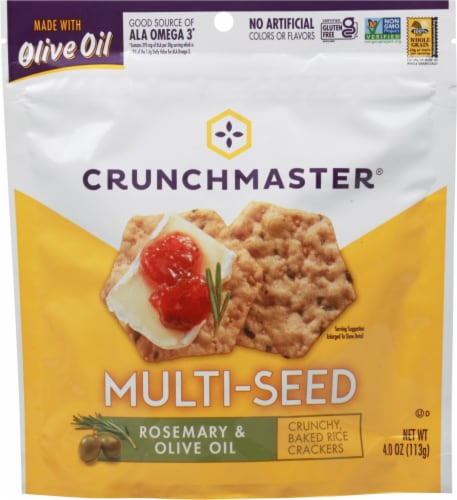 Crunchmaster® Rosemary & Olive Oil Multi-Seed Crackers Perspective: front