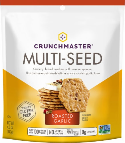 Crunchmaster Multi-Seed Roasted Garlic Crackers Perspective: front