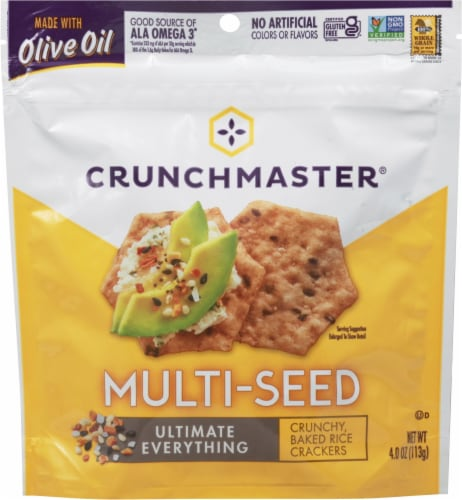 Crunchmaster Multi-Seed Ulimate Everything Baked Crackers Perspective: front