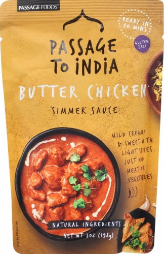 Passage to India Butter Chicken Simmer Sauce Perspective: front