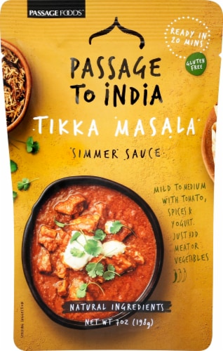 Passage to India Tikka Masala Simmer Sauce Perspective: front