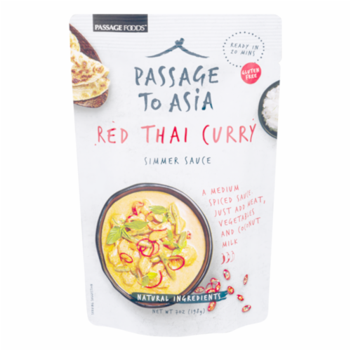 Passage To Asia Red Thai Curry Simmer Sauce Perspective: front
