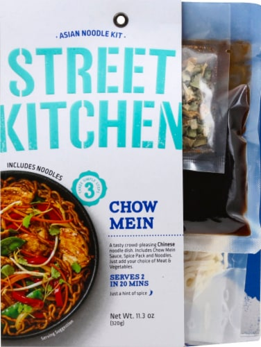 Street Kitchen Chow Mein Asian Noodle Kit Perspective: front
