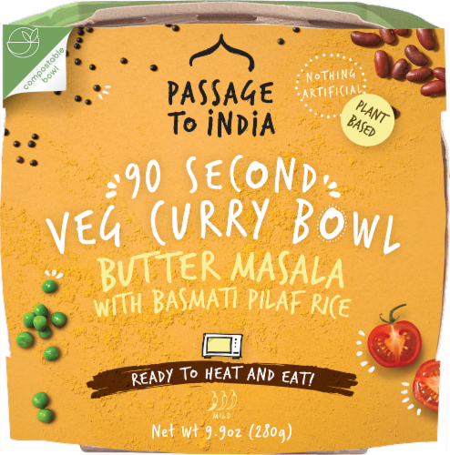 Passage to India 90 Second Butter Masala Veg Curry Bowl Perspective: front