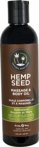 Earthly Body  Hemp Seed Massage & Body Oil Guavalava Perspective: front