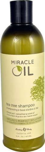 Earthly Body  Miracle Oil Tea Tree Shampoo Perspective: front