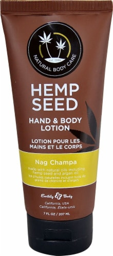 Earthly Body  Hemp Seed Hand & Body Lotion Nag Champa Perspective: front