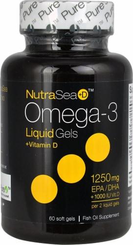 Ascenta  NutraSea+D™ Omega-3 Liquid Gels +Vitamin D   Peppermint Perspective: front