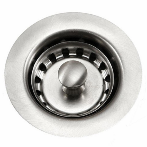 Houzer 190-4200 2 in. Bar Sink Basket Strainer, Stainless Steel Perspective: front