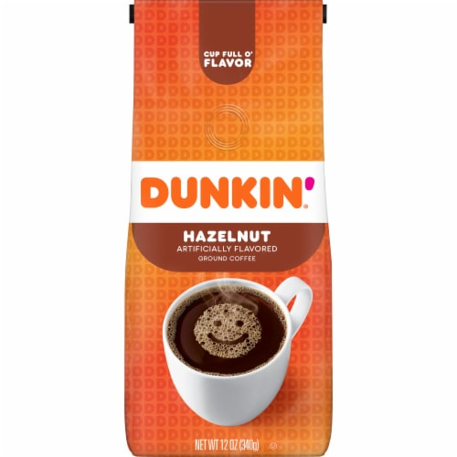 Dunkin' Donuts Hazelnut Ground Coffee Perspective: front