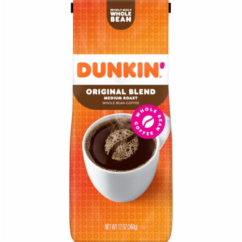 Dunkin' Donuts Original Blend Whole Bean Coffee Perspective: front