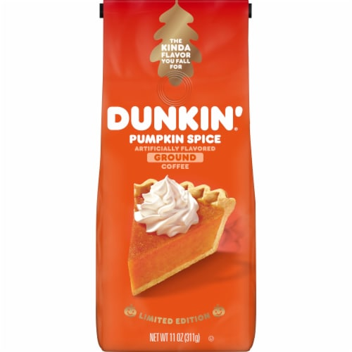Dunkin' Donuts Pumpkin Spice Ground Coffee Perspective: front