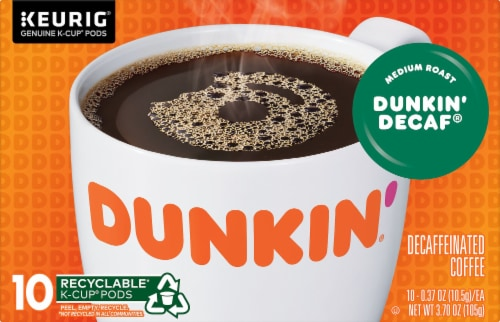 Dunkin' Donuts Decaf Coffee K-Cup® Pods Perspective: front
