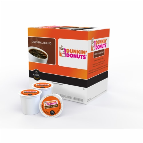 Keurig  Dunkin' Donuts  Original Blend  Coffee K-Cups  16 pk - Case Of: 1; Each Pack Qty: 16; Perspective: front