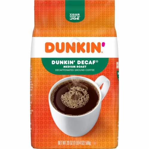 Dunkin' Donuts Decaf Medium Roast Ground Coffee Perspective: front