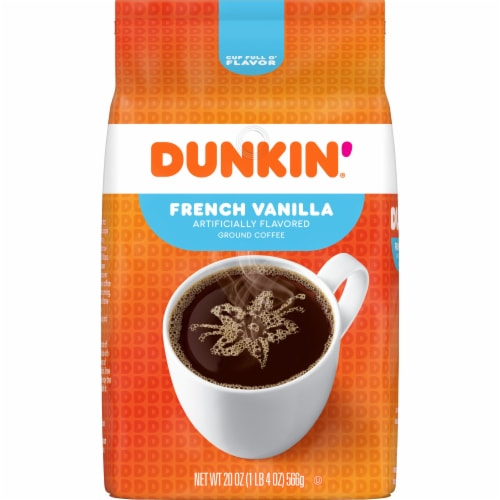 Dunkin' Donuts French Vanilla Ground Coffee Perspective: front