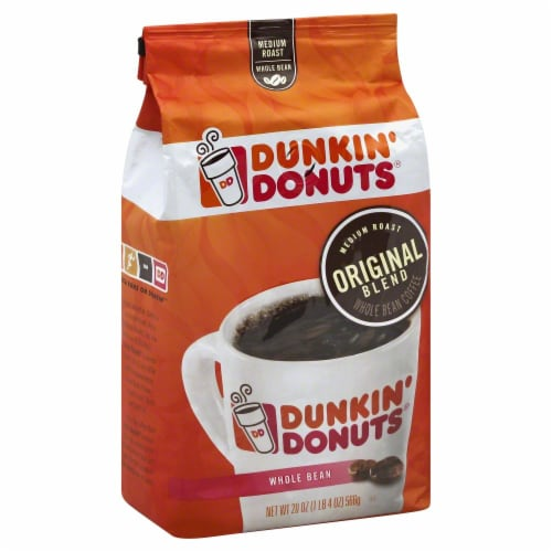 Dunkin' Donuts Original Medium Roast Whole Bean Coffee Perspective: front