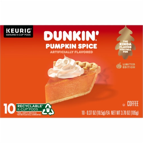 Dunkin' Donuts Pumpkin Spice K-Cup Pods Perspective: front