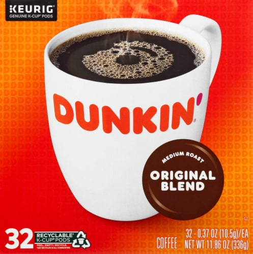 Dunkin' Donuts Original Blend Coffee K-Cup Pods Perspective: front