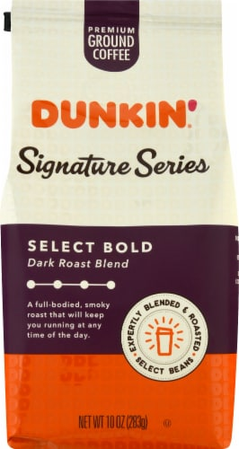 Dunkin' Signature Series Select Bold Dark Roast Blend Ground Coffee Perspective: front