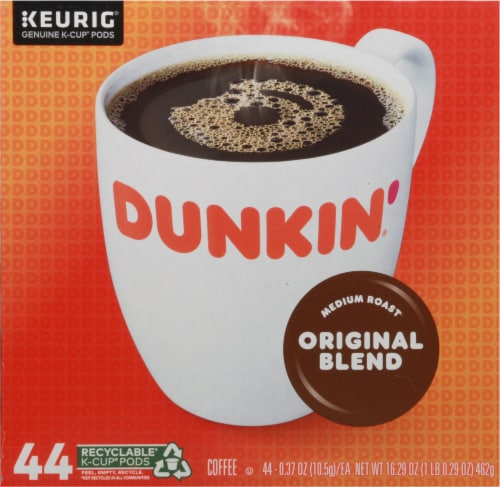 Dunkin' Donuts Original Blend Medium Roast Coffee K-Cup Pods Perspective: front