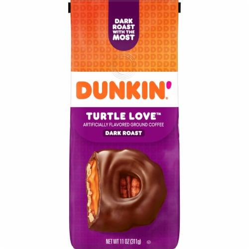 Dunkin' Turtle Love Dark Roast Ground Coffee Perspective: front