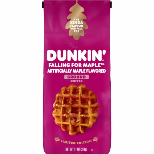 Dunkin' Falling for Maple Ground Coffee Perspective: front