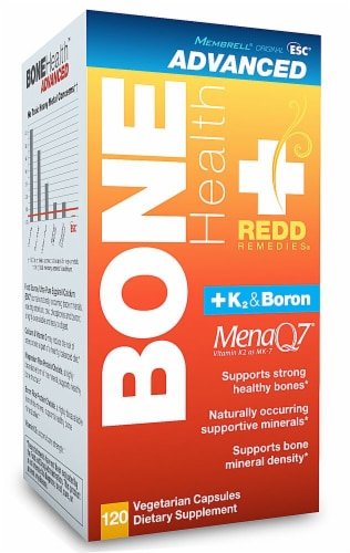 Redd Remedies  Bone Health + K2 & Boron Perspective: front