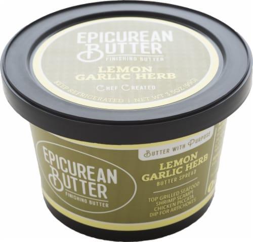 Epicurean Butter Lemon Garlic Herb Butter Spread Perspective: front