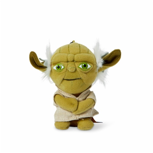 "Star Wars Mini 4"" Talking Plush Toy Clip On - Yoda Perspective: front"