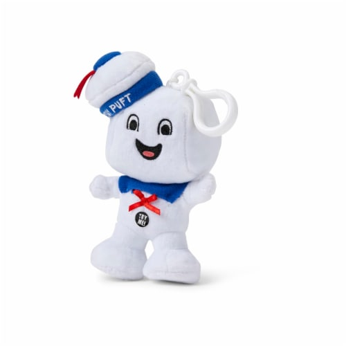 "Ghostbusters Stay Puft Marshmallow Man Happy Face 4"" Talking Mini Plush Perspective: front"