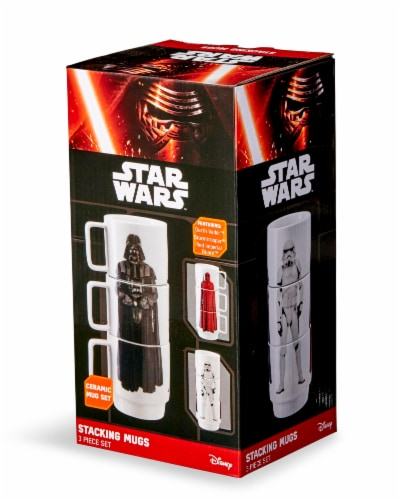 Star Wars 11oz Stacking Mugs - Darth Vader, Imperial Guard, and Stormtrooper Perspective: front
