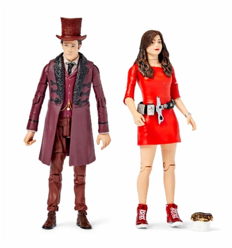 """Doctor Who The Impossible Set w/ 11th Doctor & Oswin Oswald 5"""" Action Figures Perspective: front"""
