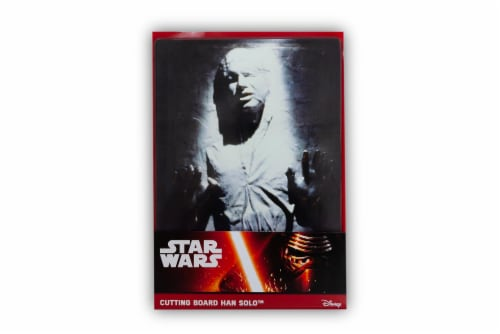 Star Wars Han Solo Frozen in Carbonite Glass Cutting Board Perspective: front