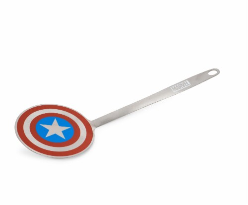 Marvel Captain America Shield Colored Flat Stainless Steel Wide Head Spatula Perspective: front