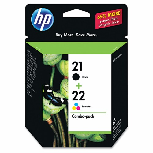 HP 21/22 Ink Cartridges - Black/Tri-Color Perspective: front