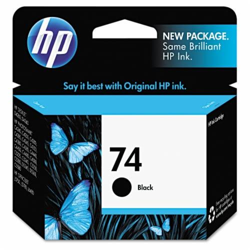 HP 74 Ink Cartridge - Black Perspective: front