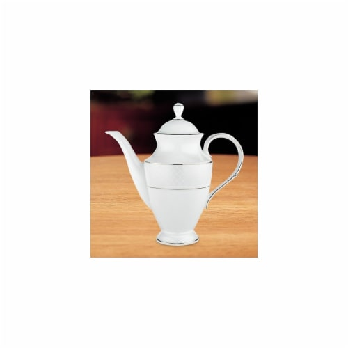 Lenox 762026 Venetian Lace Coffeepot with Lid Perspective: front