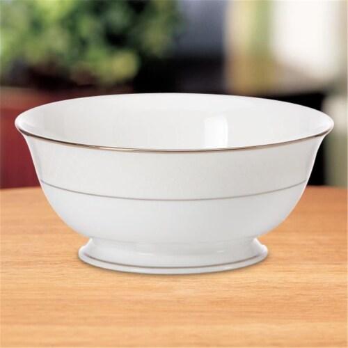 Lenox 803409 Venetian Lace Serving Bowl Perspective: front