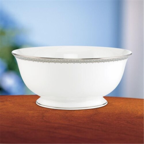 Lenox 811609 Lace Couture Serving Bowl Perspective: front