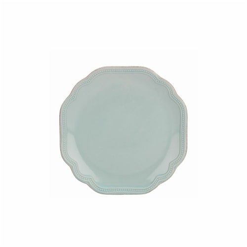 Lenox 8.5 in. French Perle Bead Ice Blue Accent Plate Perspective: front