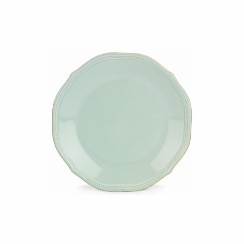 Lenox 10.75 in. French Perle Bead Ice Blue Dinner Plate Perspective: front