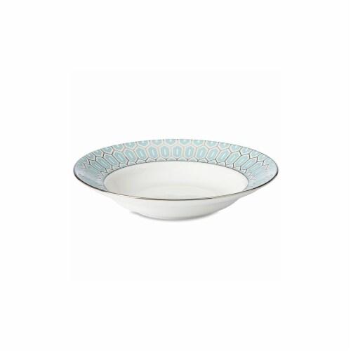 Lenox 859030 12 oz Gluckstein Clara Aqua Pasta & Soup Bowl Perspective: front