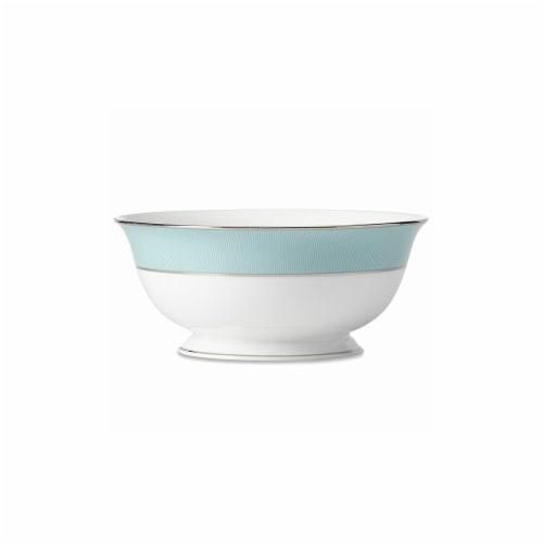 Lenox 859034 56 oz Gluckstein Clara Aqua Serving Bowl - Large Perspective: front