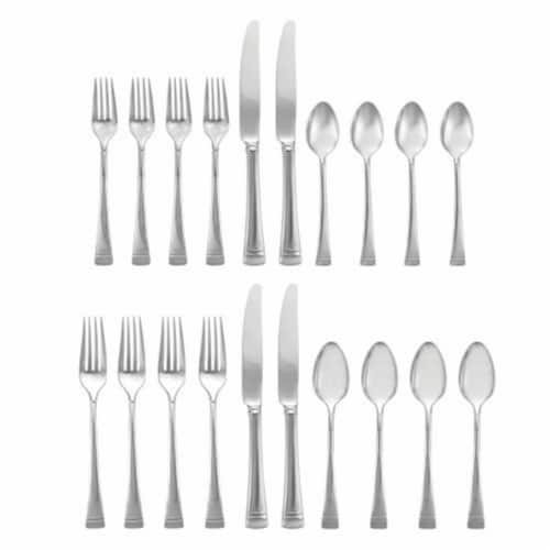 Lenox Federal Platinum Flatware Set, 9.25 in. - 20 Piece Perspective: front
