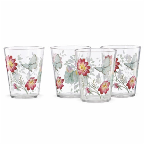 Lenox 866237 Butterfly Meadow Dinnerware Acrylic Dof Glass Set, 16 oz - 4 Piece Perspective: front