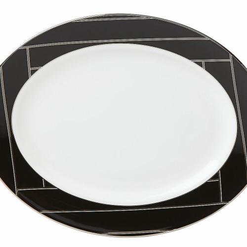 Lenox Brian Gluckstein Winston Dinnerware Oval Platter, 13 Perspective: front