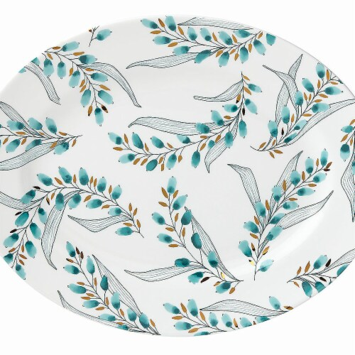 Lenox Goldenrod Dinnerware Oval Platter, 13in Perspective: front