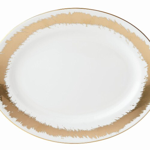 Lenox Casual Radiance Dinnerware Oval Platter, 13 in Perspective: front