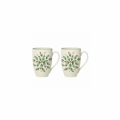 Lenox Holiday Dinnerware Holly Mug Set - 2 Piece Perspective: front